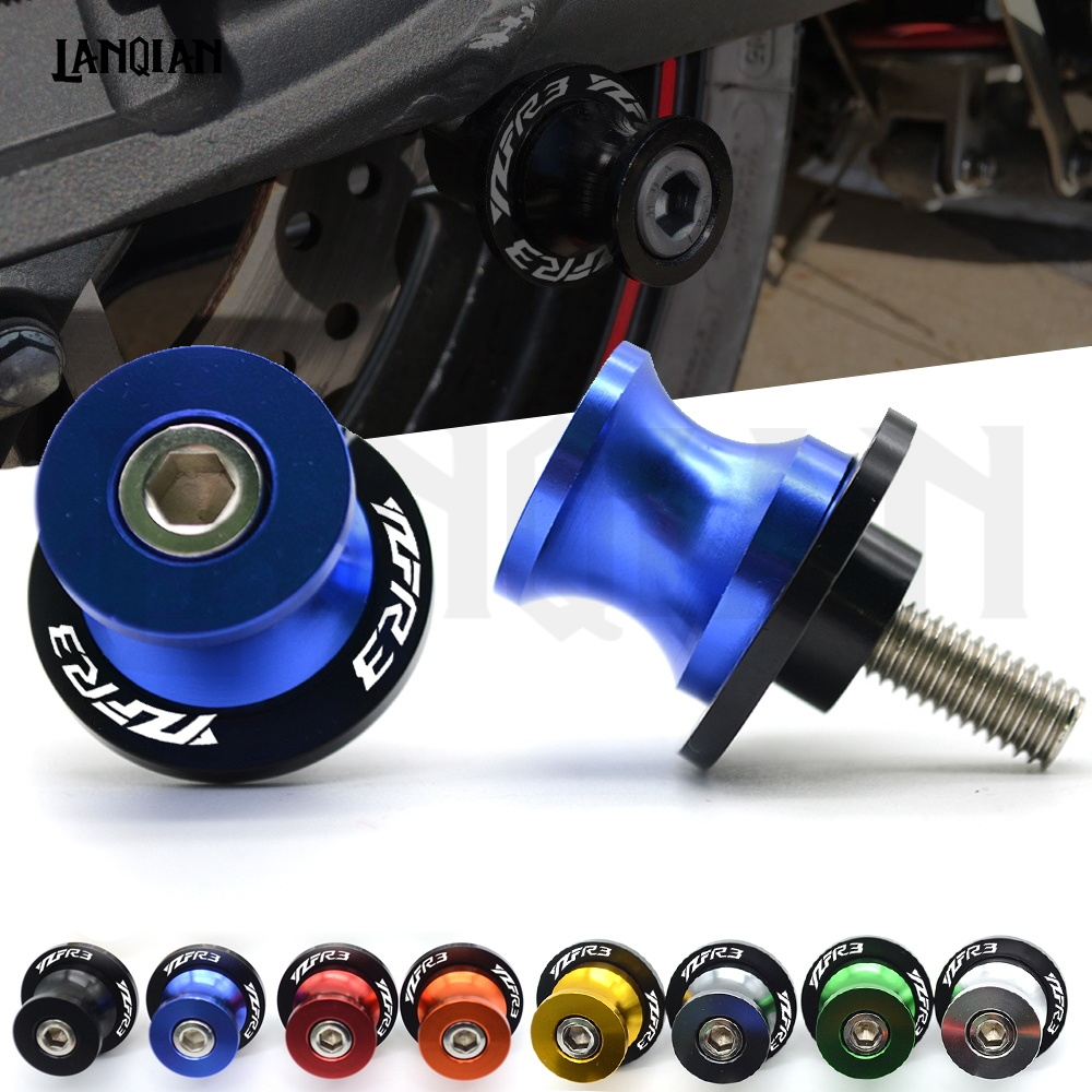 For YAMAHA YZF R3 Motorcycle Swingarm Spools Slider 6mm Swing arm Stand Screws YZF R3 2015 2016 2017 2018 2019 YZFR3 Accessories Covers & Ornamental Mouldings     - title=