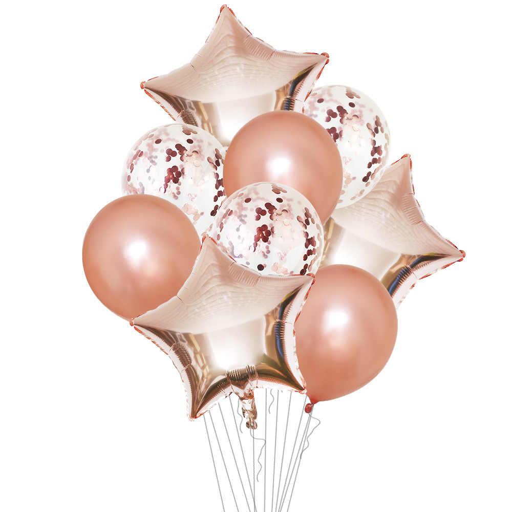 บอลลูนสีน้ำเงิน Air บอลลูน Deco วันเกิดฟอยล์บอลลูนฮีเลียมตกแต่งเด็กผู้ใหญ่ลูกเงิน Globos