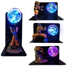 Dragon Ball Super Goku Vegeta Gogeta Figuras LED Light Dragon BallโคมไฟUltra Instinct Gokuห้องนอนตกแต่งNight Lightของขวัญ