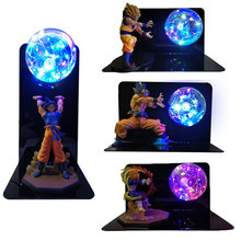 Dragon topu süper Goku Vegeta Gogeta Figuras LED ışık Dragon topu top lamba Ultra Instinct Goku yatak odası dekoratif gece lambası hediyeler