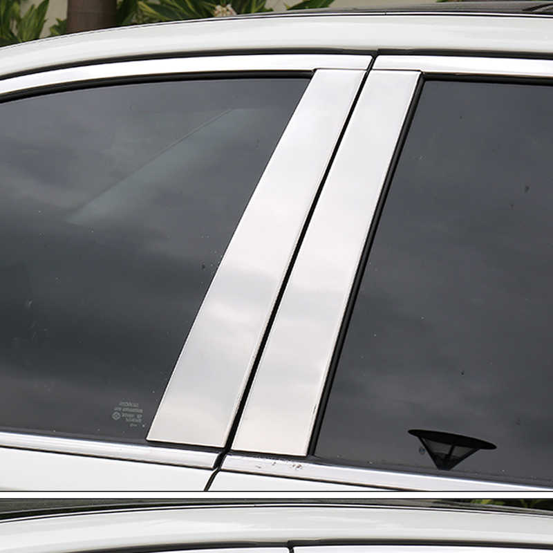 Pencere kapakları Renault Fluence 2010 ~ 2018 araba pencere Pillar merkezi kalıplama ayar kapağı paslanmaz çelik etiket dekorasyon