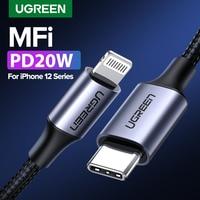 UGREEN cavo da USB C a Lightning per iPhone 12 mini Pro Max PD18W 20W cavo PD dati di ricarica rapida per MacBook iPad Pro cavo USB