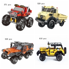 Creative new hot all-terrain car series set building blocks model toys childrens educational holiday gifts
