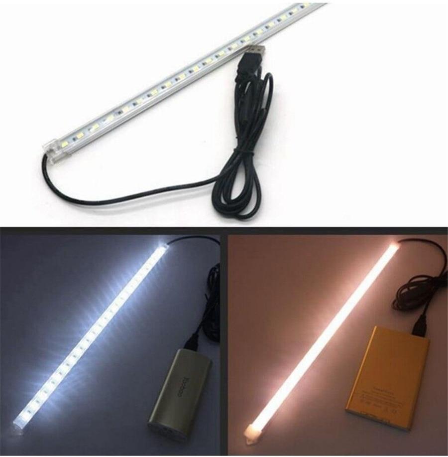 USB alimenté 10/20/35/40cm SMD 5630 barre de LED lumière en aluminium LED bande rigide lumières pour armoire placard étude lampe de lecture 5