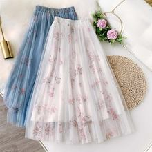 Женская плиссированная юбка трапеция с высокой талией wateheart