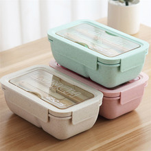 Kids Lunch Box New Microwave Independent Lattice for Bento Portable Leak-Proof Food Container