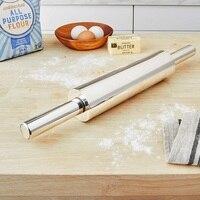 1 Uds molde para repostería de acero inoxidable Rolling Pin no-Pizza fideos Cookie rodillo para tartas cocina de fácil pasta herramienta