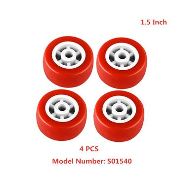 цена на 4 Pcs/Lot Casters Spot 1.5 Inch red Pvc Single Wheel Diameter 40mm Light Caster Mute Plastic Piece Furniture Small