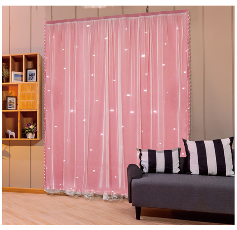 Tulle Curtains in the living room pink  curtains for room hall Tulle for windows home decoration home interior Garland curtain