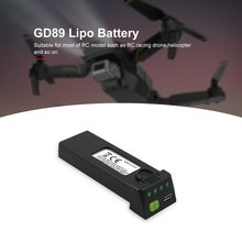 3.7V 1200mah Lipo Battery Replace Rechargeable Batteries For GD89 FPV RC Drone S