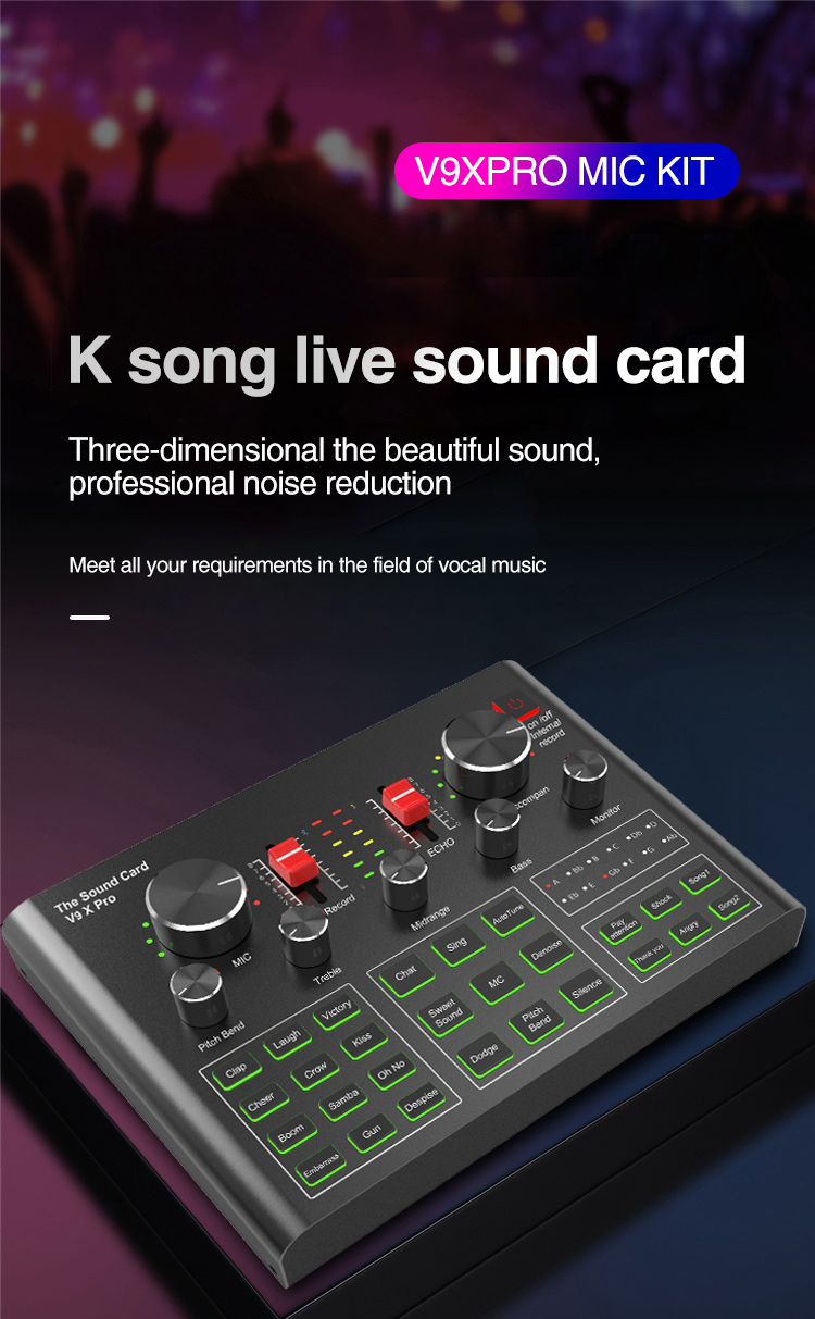 de som microfone kit para estúdio ao