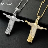 New Style Hip Hop Style Gold Pendant Christ Jesus Like Cross Hip hop Jewelry