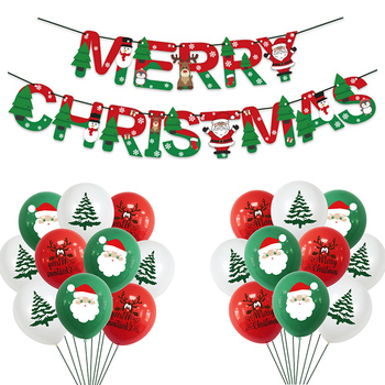 21Pcs/set Merry Christmas Balloon Garland Santa Claus Xmas Tree Christmas Decorations For Home Navidad New Year 2021 Kids Gift недорого