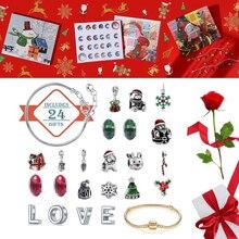 Calendar Christmas-Advent No with Fashion Bracelet Jewelry 24-Days/diy Charms-Set