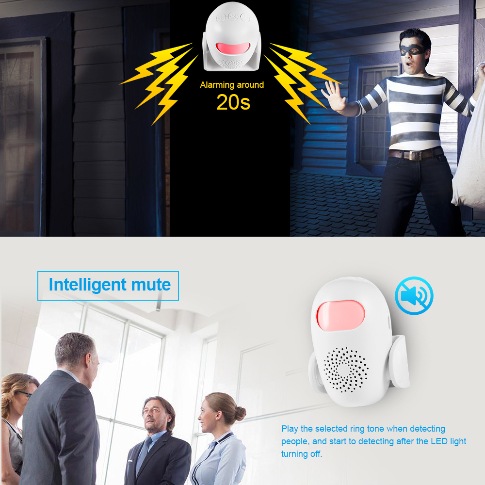 KERUI M120 Home Security Alarm  Anti-theft PIR Motion Detector Wireless Doorbell Welcome Alarm System With Remote Controller