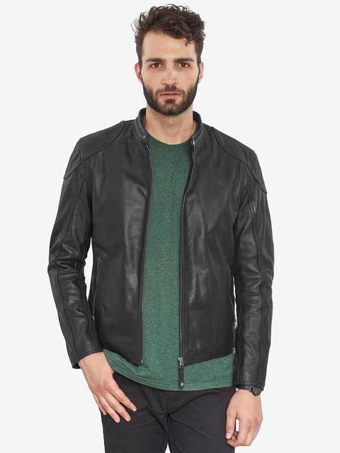 VAINAS avrupa marka erkek Premium Buffalo deri ceket erkekler kış gerçek deri motosiklet ceketler Biker ceketler ROMEO