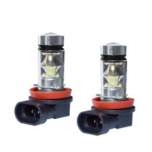 Car Fog Light Lamp H1 H3 H4 H7 H8 H11 9005 9006 9012 P13W H15 12V 100W High Power LED Led lights Bulb DRL
