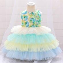 Рождественские платья для маленьких девочек; Платье пачка крещения;