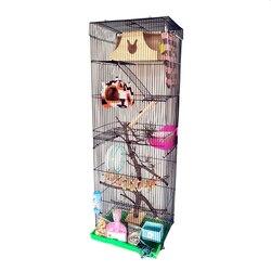 Drei-geschichte drachen katze käfig Goldenen Blume Dämon Eichhörnchen Käfig Guinea-Ratte Große Villa Grand Drachen Katze Standard