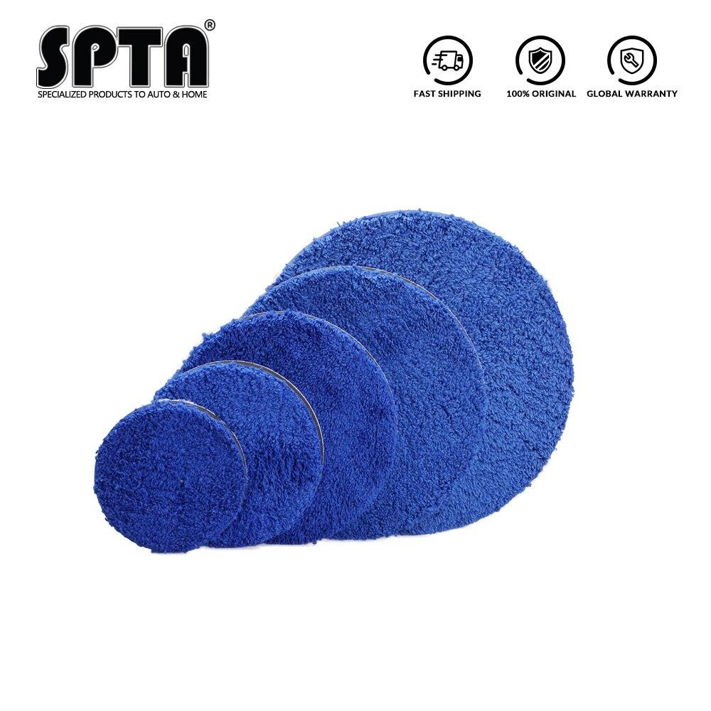 Spta almofada de polimento de microfibra, de 3/4/5/6/7 Polegada, almofadas de polimento substituíveis, micro almofadas de polimento fibra para da/ro polisher
