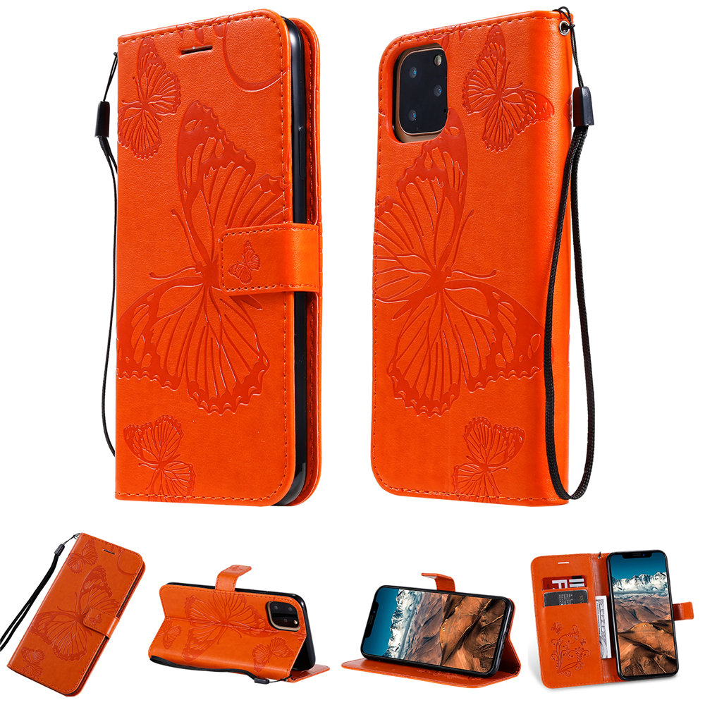 Butterfly Leather Wallet Case for iPhone 11/11 Pro/11 Pro Max 12