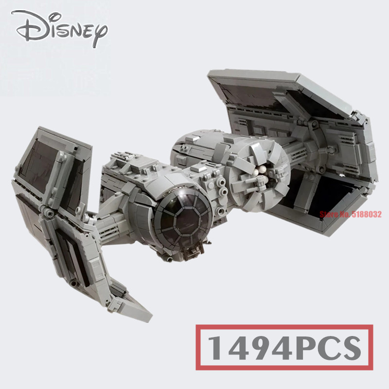 New 1494PCS Space TIE Bomber Fighter Series Star Space Wars Building Blocks Bricks MOC-13952 Children Toys Kid Gifts