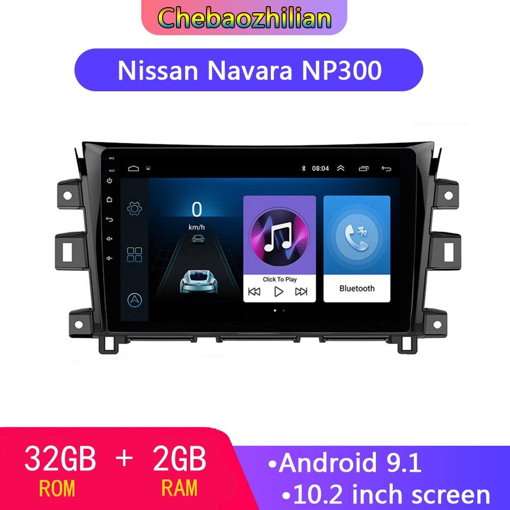 10,2 zoll Android 9,1 Multimedia-Player Für 2011- 2016 Nissan NAVARA Frontier NP300 GPS Navigation Auto Auto Radio mit WIFI