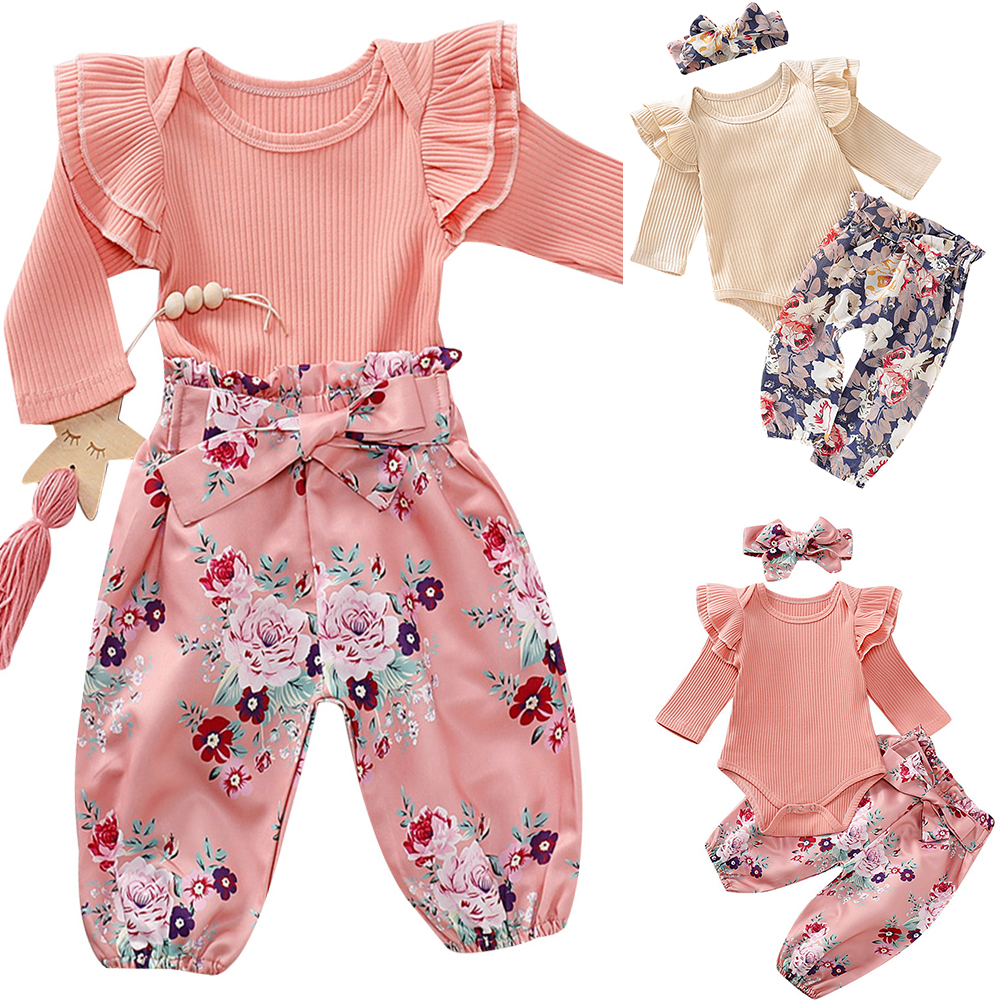 Baby Girl Cotton Three Piece Set