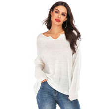 2019 Autumn and Winter New Style Thin Sweater Women Long Sleeve V-neck Pullover Knitting Shirt Women's Sweaters and Pullovers(China)