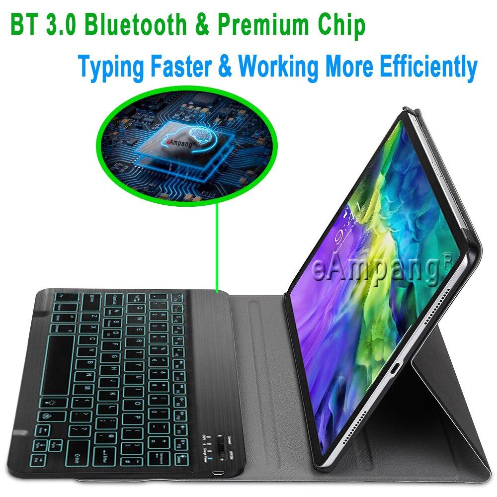 iPad iPad Apple 2020 Keyboard Keyboard Color Slim 7 Pro 11 Case for for Keyboard Backlit