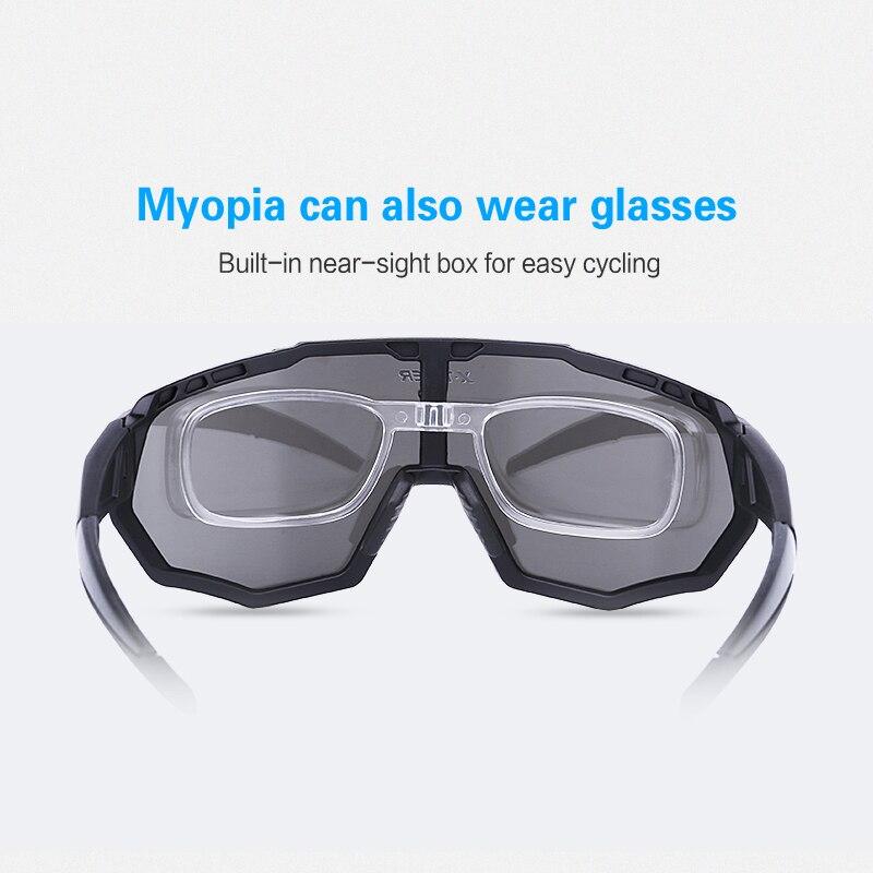 X-TIGER Polarized 5 Lens Cycling Glasses Road Bike Cycling Eyewear Cycling Sunglasses MTB Mountain Bicycle Cycling Goggles 5