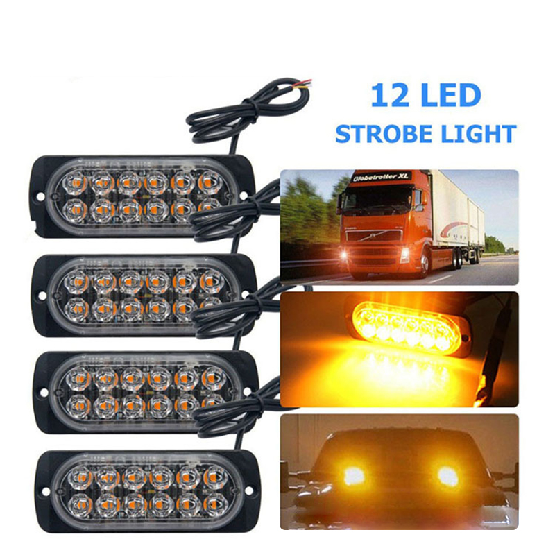 LED Emergency Light For Car Warning Flashing Firemen Ultra-thin Police Emergency Light Ambulance Police Strobe LED Warning Light