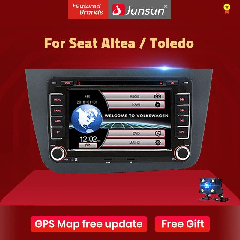 Junsun-Radio Multimedia con GPS para coche, Radio con reproductor de vídeo, 2 din, 7 pulgadas, RHD, navegador, DVD