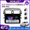 Автомагнитола 2 din на Android 9,0 с GPS-навигацией, мультимедийный видеоплеер для Toyota Corolla E140, E150, 2006, 2007-2013, 2 din, стерео, DVD