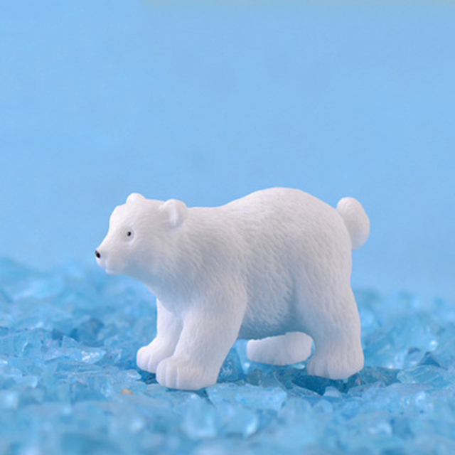 Modern nordic lovelyIns mini style polar bear home decoration living room accessories miniature fairy garden  resin figurine 6
