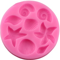 1PC Silicone Cake Silicone Mold DIY Kitchen Marine Life Cake Mold Candy Biscuit Baking Fudge Mold Cake Decoration Tool
