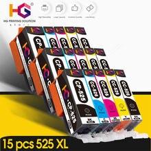 15 шт pgi 525 pgi525 для canon pixma ip4850 ip4950 ix6550 mg5150
