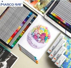 Marco Raffine 7100 24/36/48/72 kasowalna olej/woda kolor ołów drewniany ołówek zestaw początkujący profesjonalny obraz artysty w Standardowe ołówki od Artykuły biurowe i szkolne na