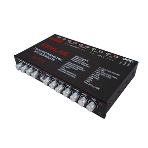 Image 2 - 7 segment equalizer Car Audio EQ tuning crossover Amplifier Car Equalizer  DC 12V D3 008