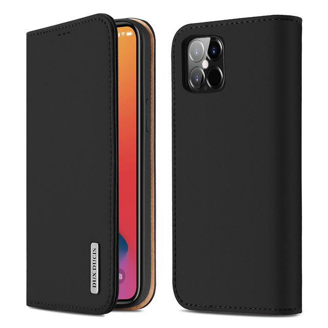 DUX DUCIS Portefeuille En Cuir Véritable de Luxe Pour Iphone X XS Max XR 6 7 8 Plus 12 11 Pro 11Pro Max Titulaire de la Carte De Couverture Confortable