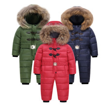 Russian Winter hold -25 children snowsuit sets 18M-4T Baby jumpsuit Down Jackets warm Romper down coats boys girl Kids clothes цена и фото