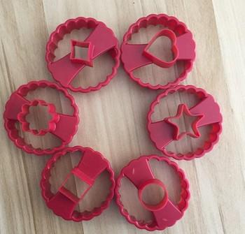 2021 nowy 6 sztuk zestaw wielofunkcyjny foremka do wykrawania ciasteczek lukier dekoracyjny do ciasta narzędzie tnące okrągłe serce rozpocząć kwiat zestaw foremek do ciastek tanie i dobre opinie Formy do wzorów na ciasteczka CN (pochodzenie) Ekologiczne Na stanie SK017 CE UE Z tworzywa sztucznego