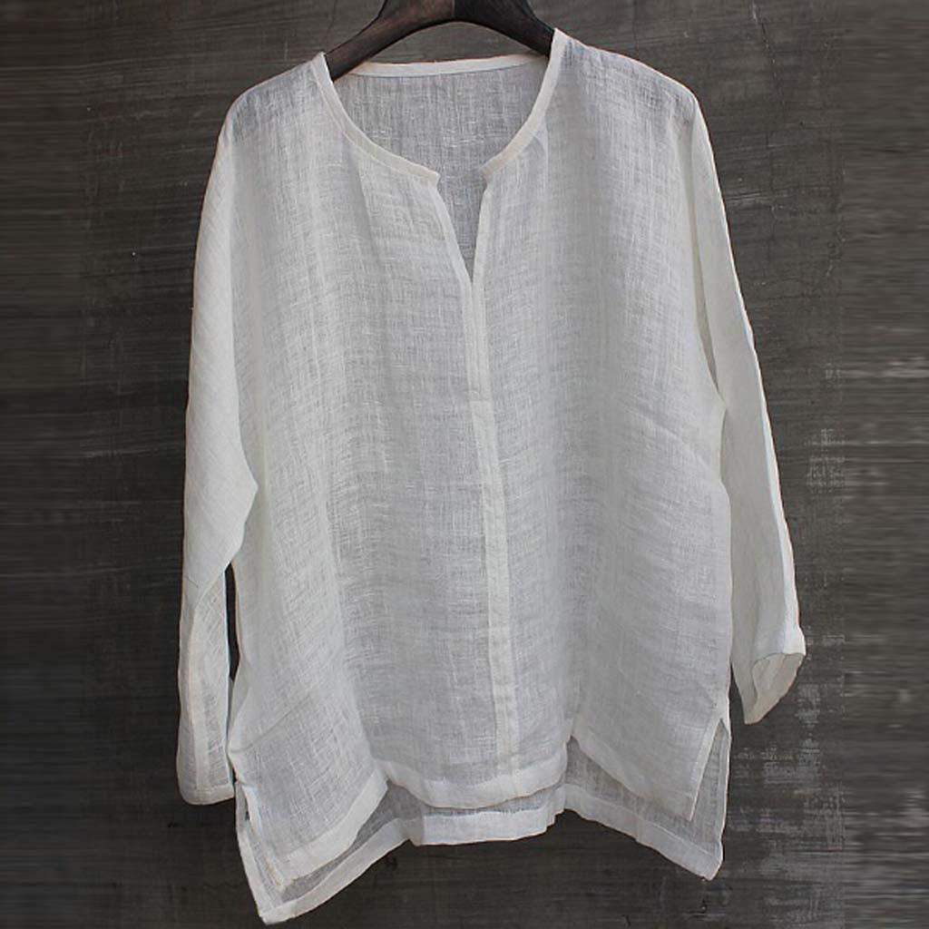 Linen Shirt Men Brief Breathable Comfy Solid Color Long Sleeve Loose Harajuku Casual Blouse Hawaiian Shirt Camisa Masculina 2020|Casual Shirts|   - AliExpress