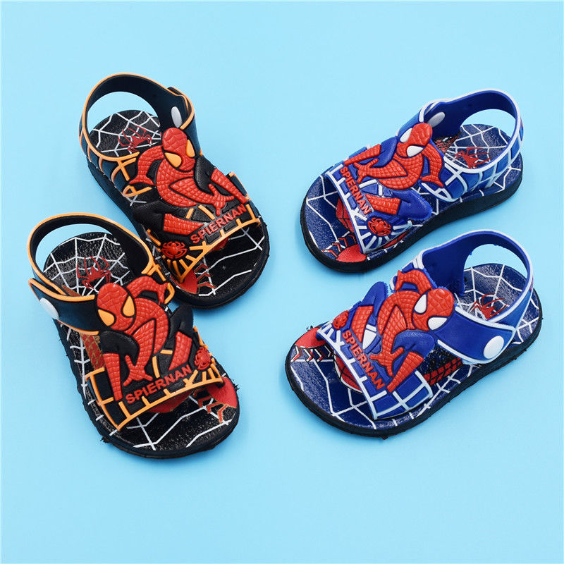 Summer Kids Shoes Fashion Spiderman Boys Sandals Casual Non-slip Rubber Children Sandals Baby Toddler Beach Shoes Infantil 21-26