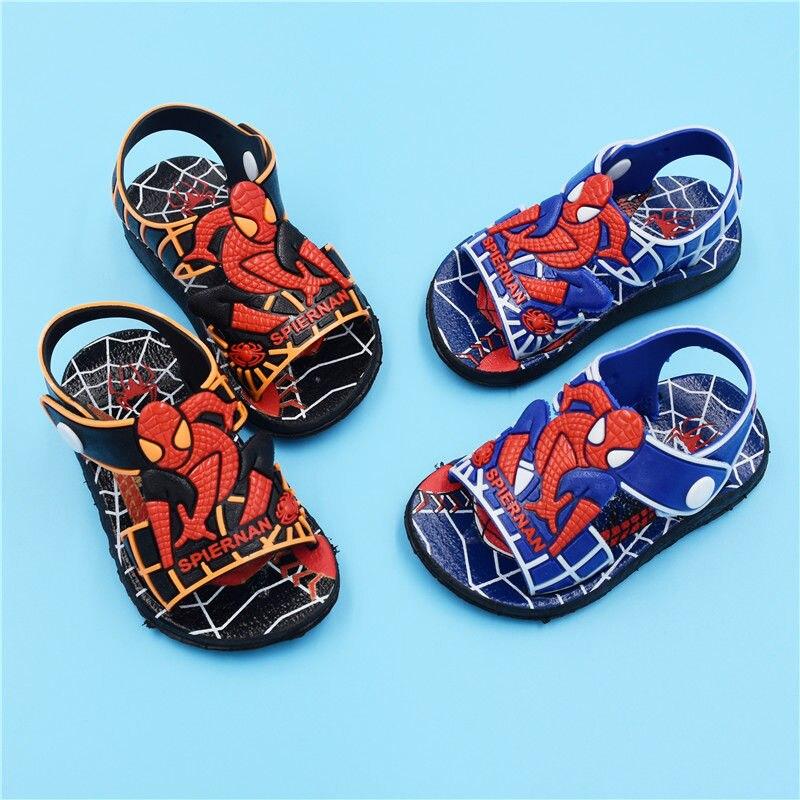 Summer Kids Shoes Fashion Spiderman Boys Sandals Casual Non-slip Rubber Children Sandals Baby Toddler Beach Shoes Infantil 21-26