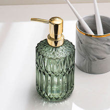 390ml Glass Soap Dispenser Bathroom Shower Gel Shampoo Bottles Nordic Hotel Hand Washing Empty Refill Sub-bottle