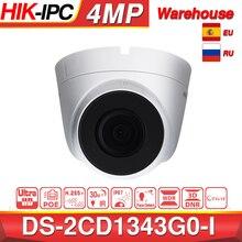 Hikvision DS 2CD1343G0 I poe câmera de vigilância de vídeo 4mp ir rede dome câmera 30m ir ip67 h.265 + 3d dnr