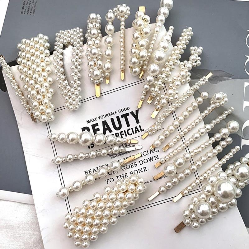 3/5Set Senior Style Women Imitation Pearl Hairpins Fashion  Hair Accessories Styling Tools Set Hair Clip Girls Headdress