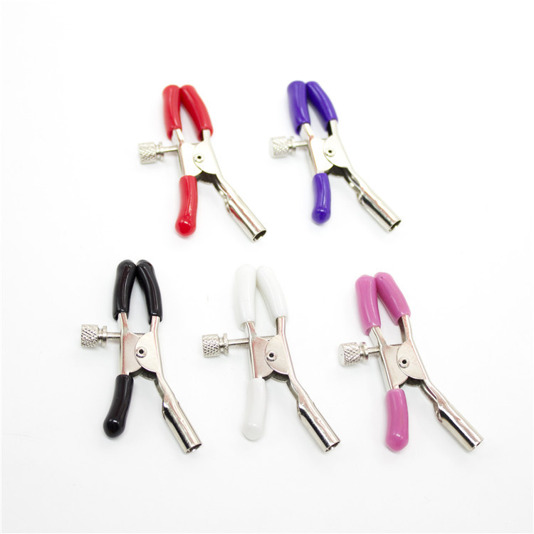 2PCS Classic Colorful Nipple Clamp Metal Vagina Labia Clip For Couples Woman Gay Adult Sex Toys SM Products Erotic Accessories