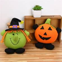 Halloween Party Pumpkin Decorations 1PC Halloween Pumpkin Kids Stuffed Animal Toy Storage Bean Bag Soft Stripe Fabric Chair HH4(China)